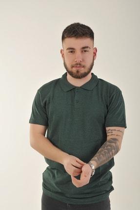 SKYBEAR Erkek Haki Düz Polo Yaka T-shirt