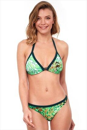 AYYILDIZ Kadın Yeşil Üçgen Kesimli Bikini Takımı 1568