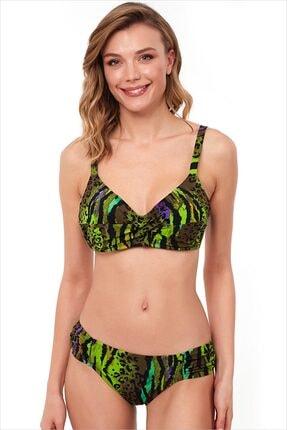 AYYILDIZ Kadın Yeşil Toparlayıcı Bikini Takımı 1553