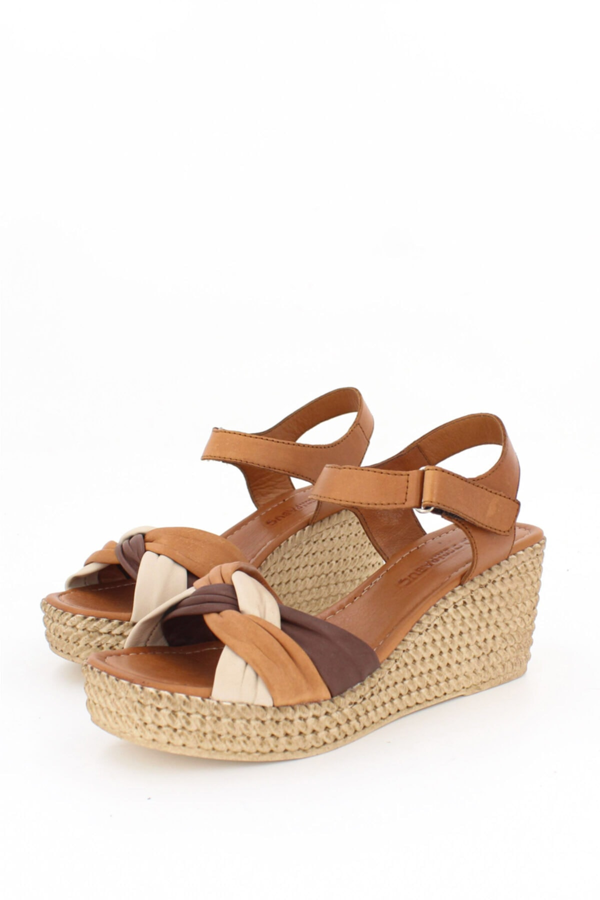 Deripabuc Hakiki Deri Taba Kadın Dolgu Topuklu Deri Sandalet Dp55-2637 1