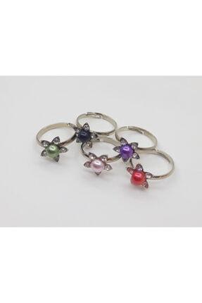 Trend Dünyası Trenddünyası Çiçekli 5 Li Farklı Renk Kız Çocuk Yüzüğü