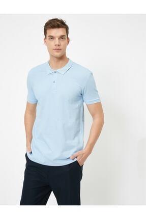 Koton Erkek Açik Indigo Polo Yaka T-Shirt 0YAM12133LK