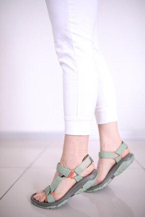 Luxx Kadın Günlük Yeşil Sandalet