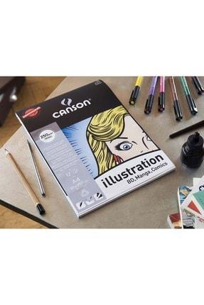Canson A4-250 G Illustration Bd-manga-comics Defter 12 Yp.