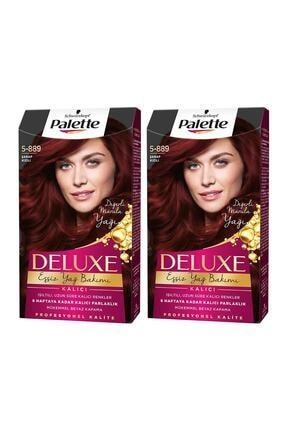 Palette Deluxe 5-889 Şarap Kızılı  X 2 Adet