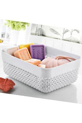 FERHOME Mutfak Banyo Sepeti Çok Amaçlı Düzenleyici Organizer Ekmek Baharat Havlu Makyaj Sepeti