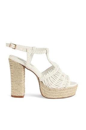 İpekyol Hasır Örme Topuklu Sandalet