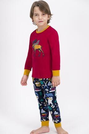 ROLY POLY Rolypoly Winter Forest Deer Açık Bordo Erkek Çocuk Pijama Takımı