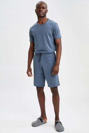 DeFacto Erkek Lacivert Regular Fit Pijama Takımı