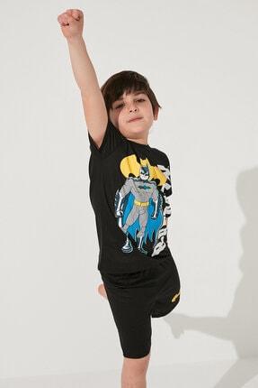 Penti Erkek Çocuk Siyah Batman Baskılı Pijama Takımı