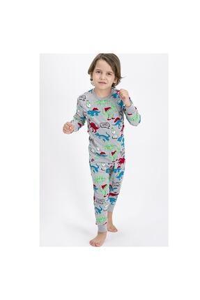 ROLY POLY Super Dino Grimelanj Erkek Çocuk Pijama Takımı