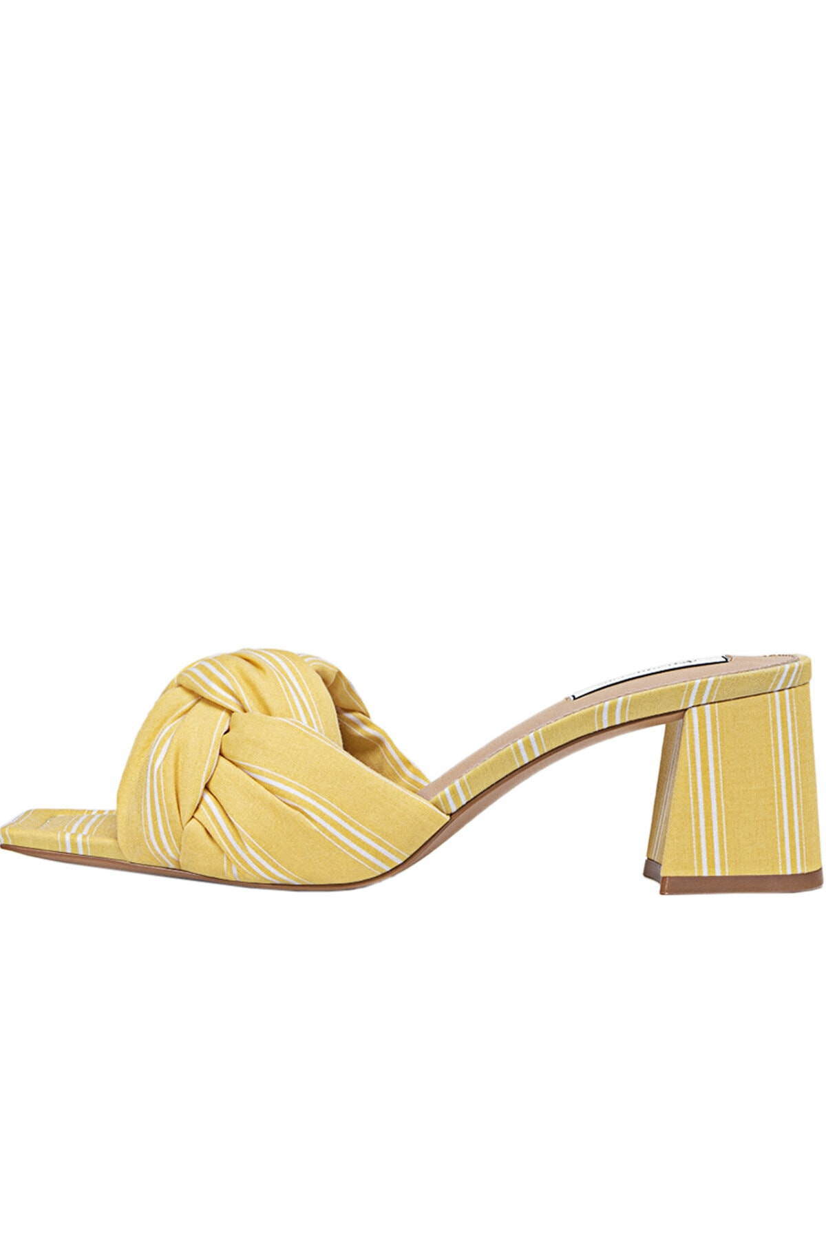 Stradivarius Kadın Sarı Topuklu Kumaş Sandalet