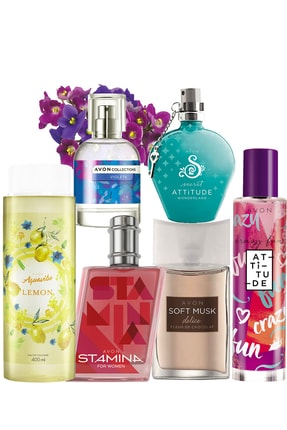 AVON Soft Musk Delice Stamina Violeta Wonderland Crazy Fun Parfüm Ve Kolonya Paketi 8681298708599