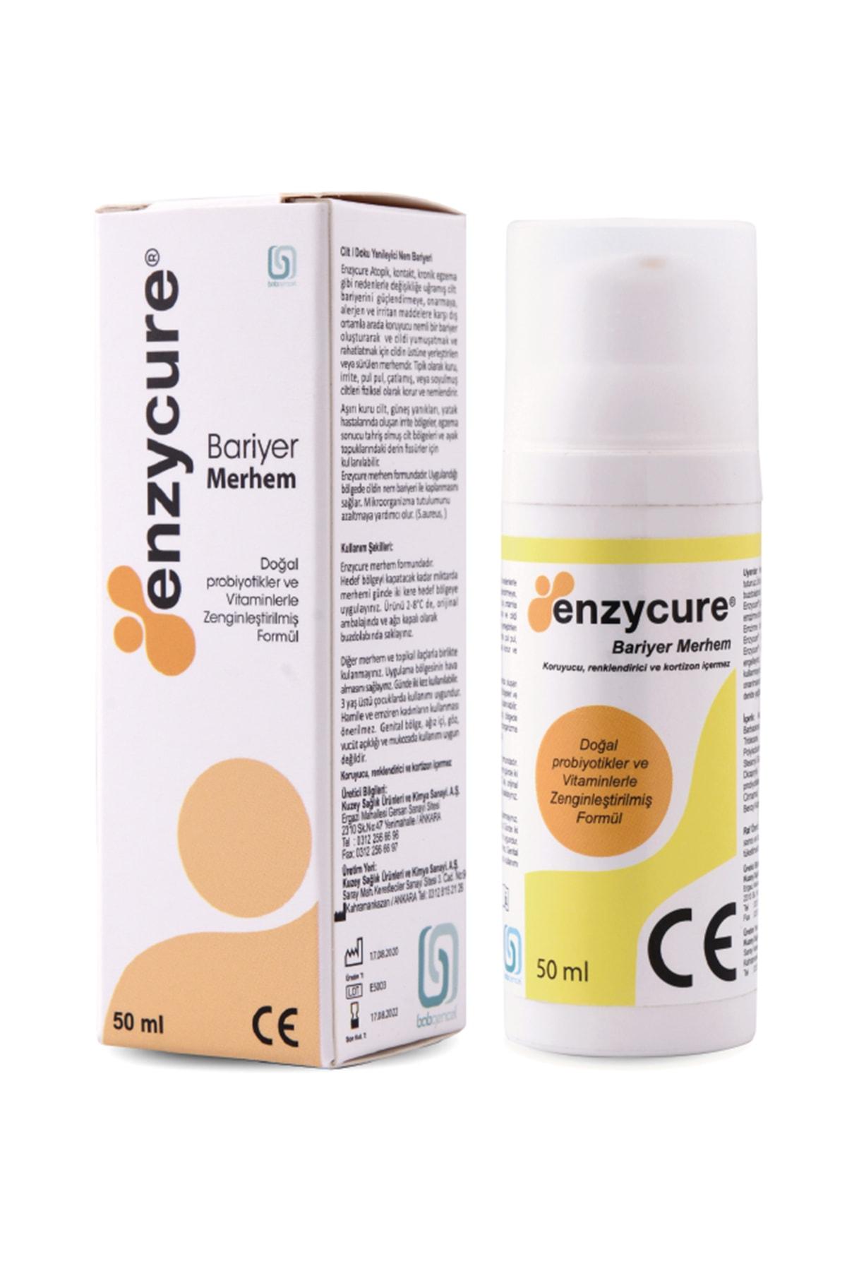 Enzycure Bariyer Krem 50 ml (Egzama Kremi - Yara Bakımı - Nemlendirici - Sedef Kremi) 1