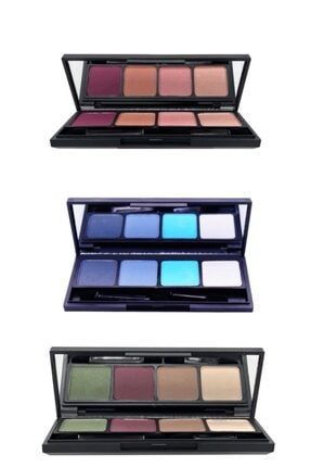 L'ACTONE Eye Shadow Palette Far Paleti 3lü Kampanyalı Set (12 Farklı Ton)