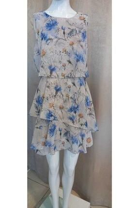 Journey Kadın Mavi Çiçekli Elbise