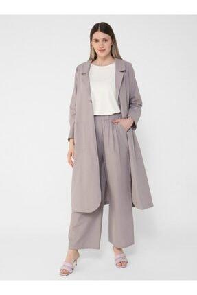 ALİA Büyük Beden Doğal Kumaşlı Beli Lastikli Pantolon