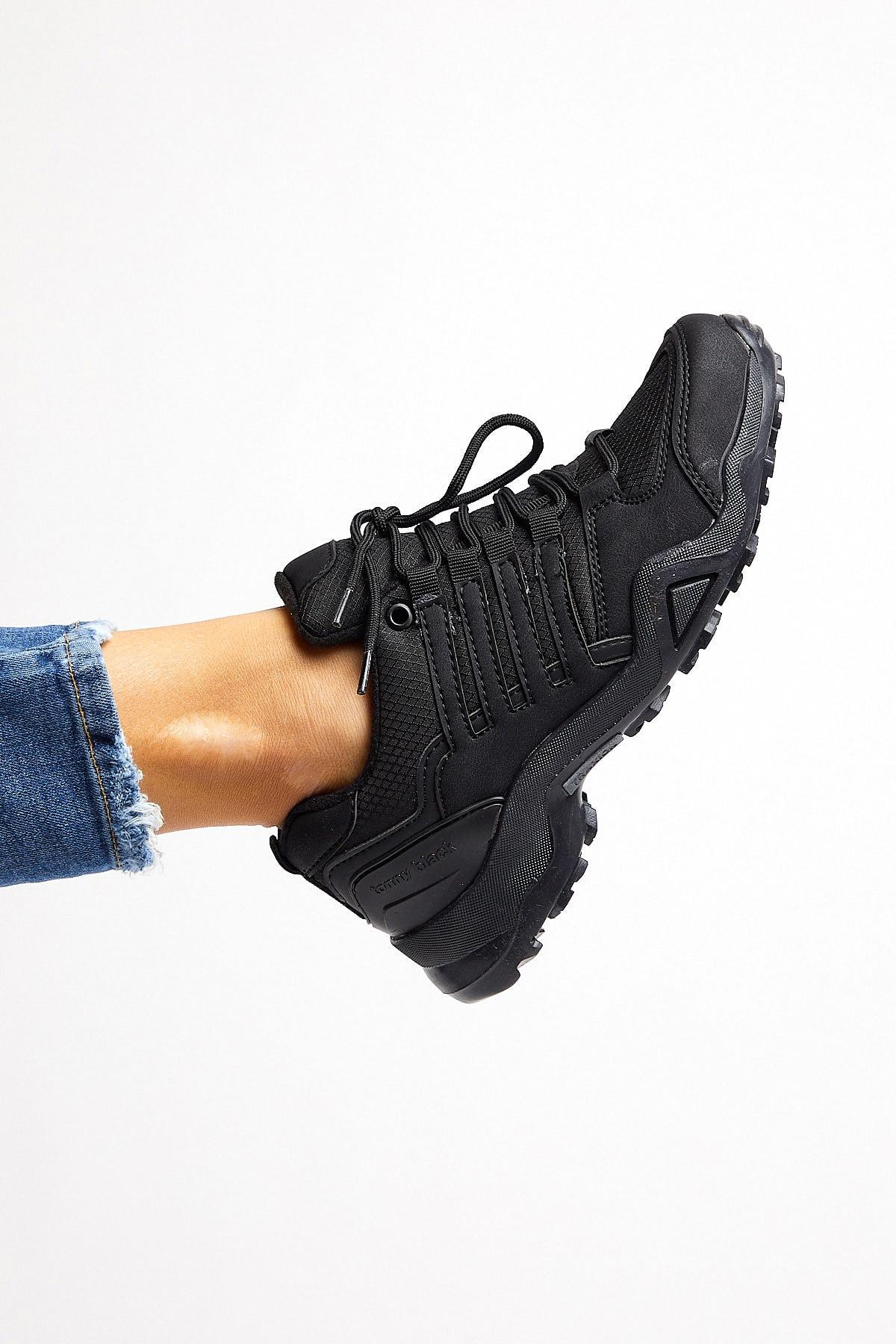 Tonny Black Unısex Trekkıng Ayakkabı Siyah Tb241 1