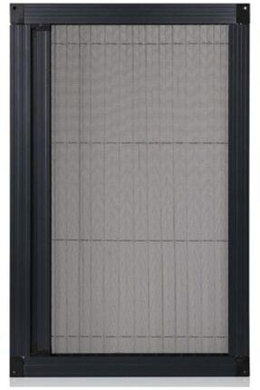 KARABEYOĞULLARI Antrasit Siyah Plise Sineklik Akordiyon Sürgülü Pileli Sineklik Kapı Ve Pencere 40-60x60-80