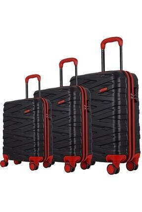 ÇÇS Kırmızı Unisex 3'lü Valiz Seti 1247589006506