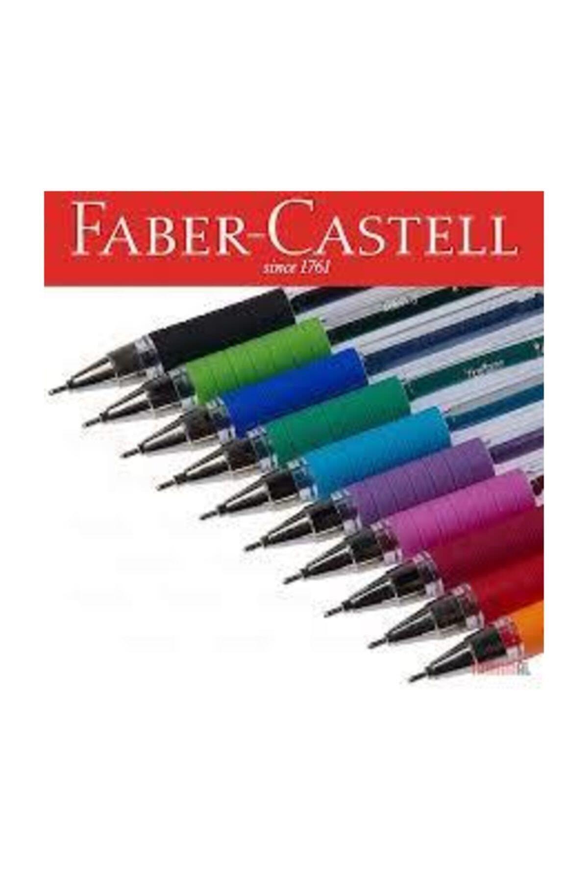 Faber Castell 1425 Iğne Uçlu 10 Renk Tükenmez Kalem Seti 1