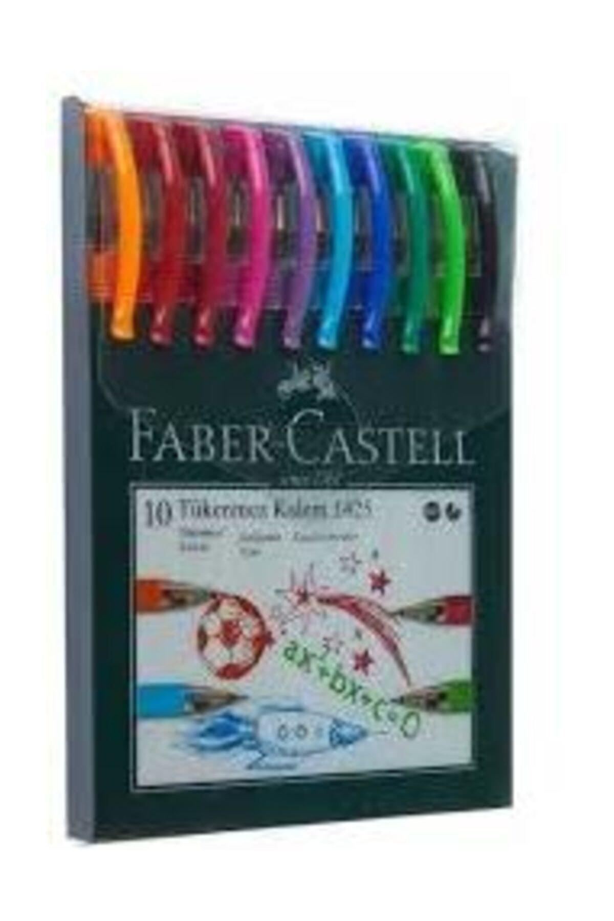 Faber Castell 1425 Iğne Uçlu 10 Renk Tükenmez Kalem Seti 2