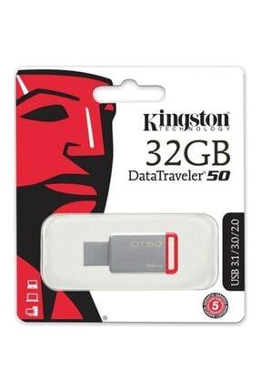 Kingston 32gb Usb3.1 Memory Dt50 / 32gb Flash Bellek Metal / Kırmızı