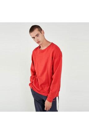 HUMMEL Erkek Kırmızı Bisiklet Yaka Sweatshirt