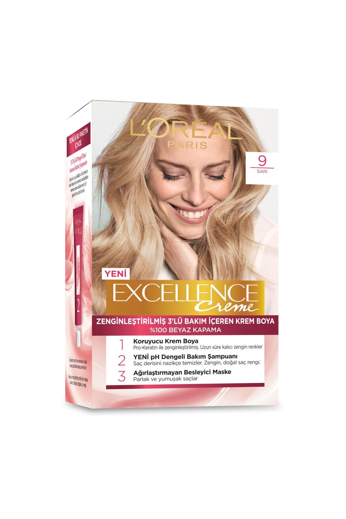 L'Oreal Paris Excellence Creme Saç Boyası 9 Sarı 2