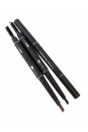 AİLY COSMETİCS Çift Taraflı Kaş Kalemi 2'li Set & Kahverengi Siyah Eyebrow Pencıl
