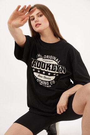 Uniquetex Kadın Siyah Brooklyn T-shirt