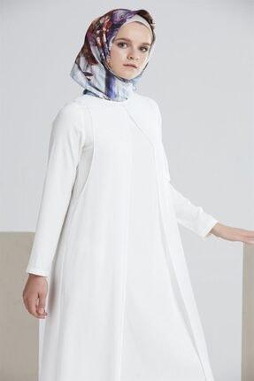 Tuğba Kadın Ekru Iki Katlı Elbise