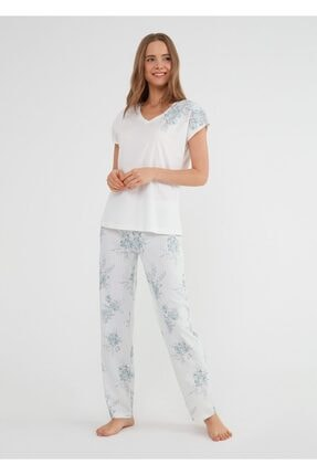 SUWEN Kadın Mint Martina Pijama Takımı