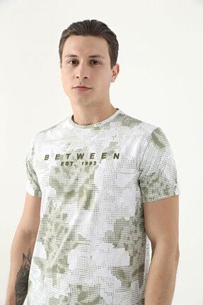 D'S Damat Erkek Yeşil Tween Baskılı T-Shirt