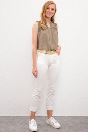 U.S. Polo Assn. Beyaz Kadın Pantolon