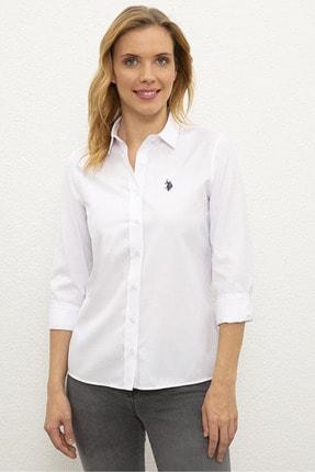 U.S. Polo Assn. Beyaz Kadın Gömlek
