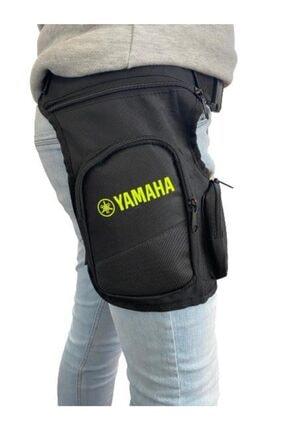 Yamaha Reflektörlü Neon Sarı 2 Cepli Motosiklet Bacak Çantası