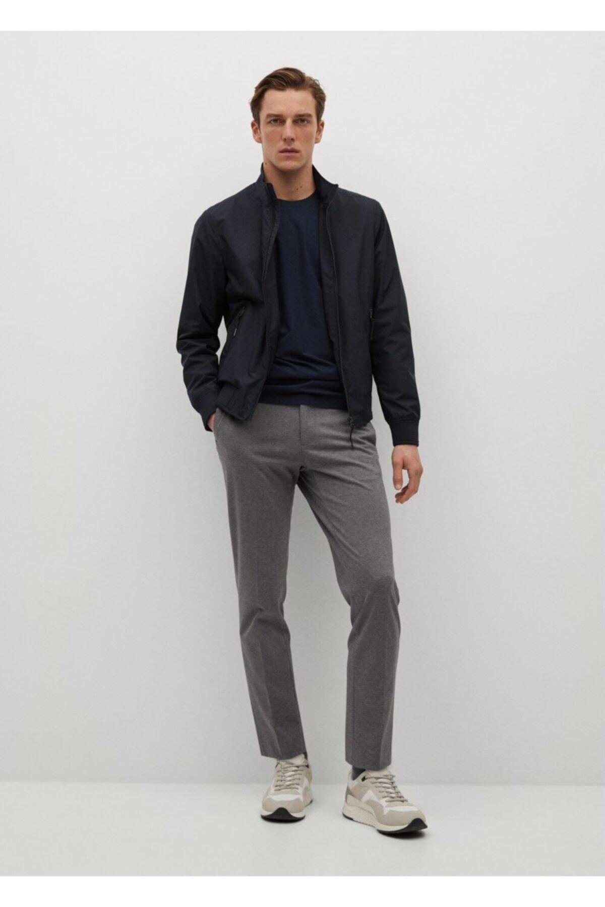 MANGO Man Teknik Kumaşlı Uzun Kollu Tişört 2