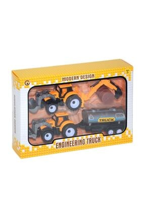 Can-Em Oyuncak Sarı Çek Bırak Kepçe ve Traktör