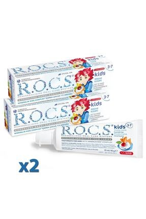 R.O.C.S. Rocs Kids 3-7 Yaş Diş Macunu Meyve Florürsüz 45g X 2 Adet