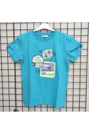 NK Erkek Çocuk Turkuaz Kısa T-Shirt