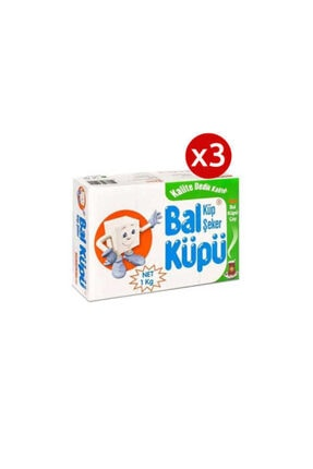 Bal Küpü 3 Adet Balküpü Kesme Şeker 1000 Gr