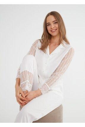 SUWEN Pansy Maskulen Pijama Takımı