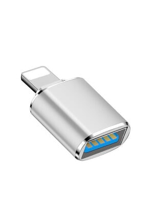 Microsonic Lightning To Otg Adapter Lightning Iphone Ipad Dişi Usb Dönüştürücü Adaptör Gri