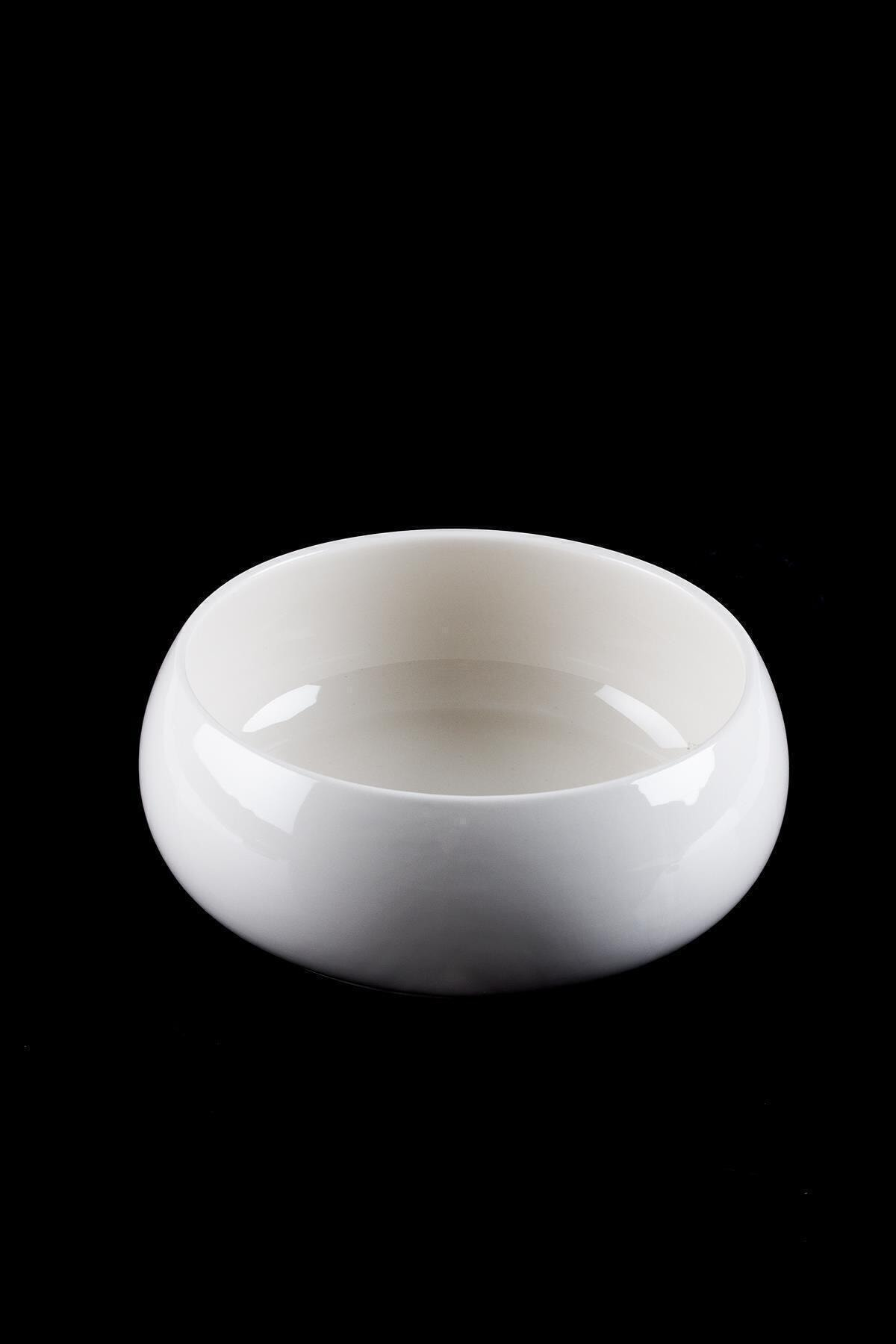 ACAR Bianco Perla Porselen Bombeli Yuvarlak Kase - 21.5 Cm 1