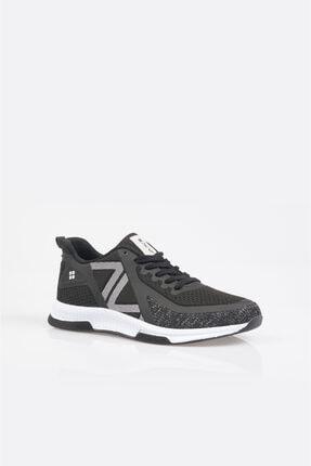 Avva Erkek Siyah Yazı Detaylı Spor Ayakkabı A11y8001