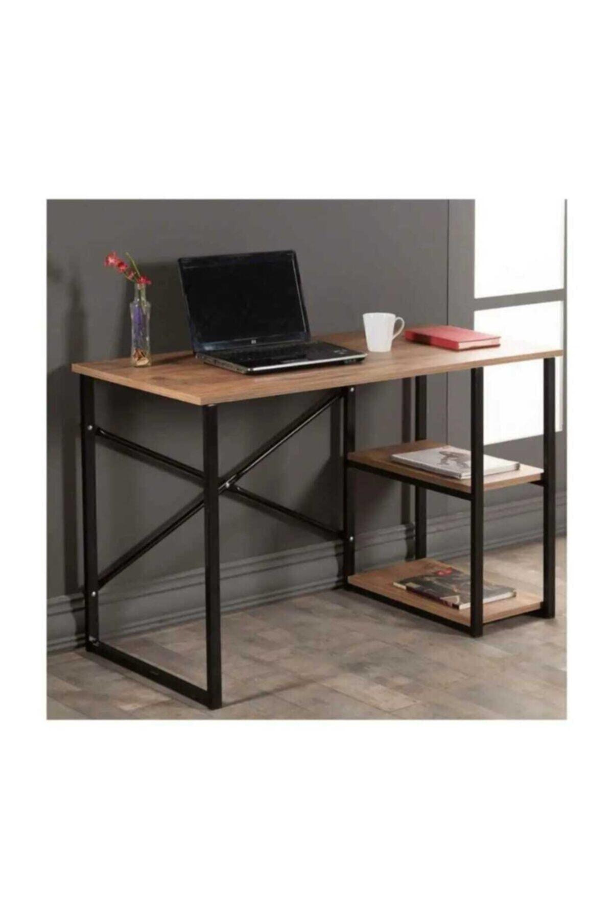 Mavera Home Çalışma Masası Ceviz Renk Bilgisayar Ve Laptop Masası Çalışma Ofis Masası 1