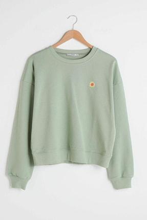 LC Waikiki Kadın Yeşil Sweatshirt XSIDE Koleksiyonu