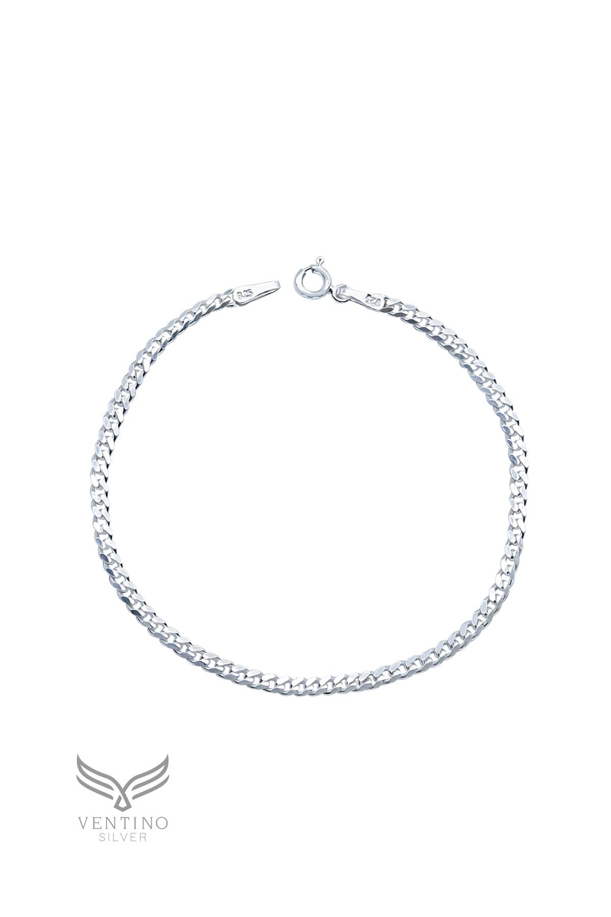 Ventino Silver Gurmet 925 Ayar Gümüş Erkek Zincir Bileklik Veb-5019 2