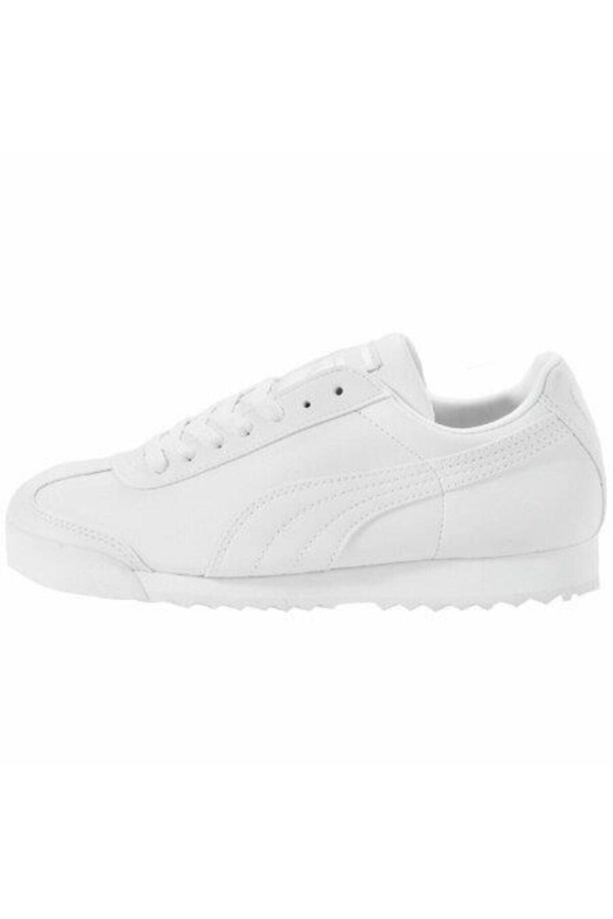 Puma ROMA BASIC JR-2 Beyaz Erkek Çocuk Sneaker Ayakkabı 100257200 2